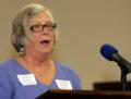 Janet Tucker presenting Chuck Sohner award